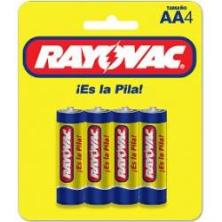 PACK 4 PILAS RAYOVAC ZINC...